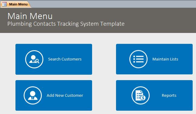 microsoft access quotation template - microsoft access plumbing contact tracking database
