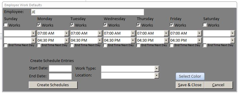Production Scheduling Database Template | Production Database