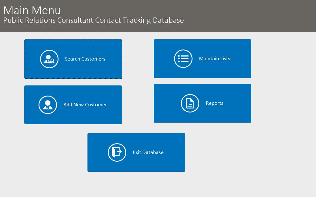 Public Relations Contact Tracking Database Template | Contact Database