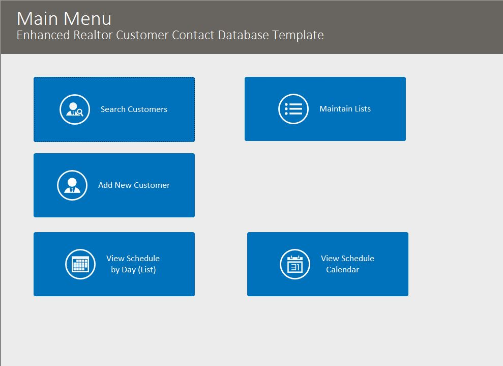 Realtor Enhanced Contact Template | Contact Database