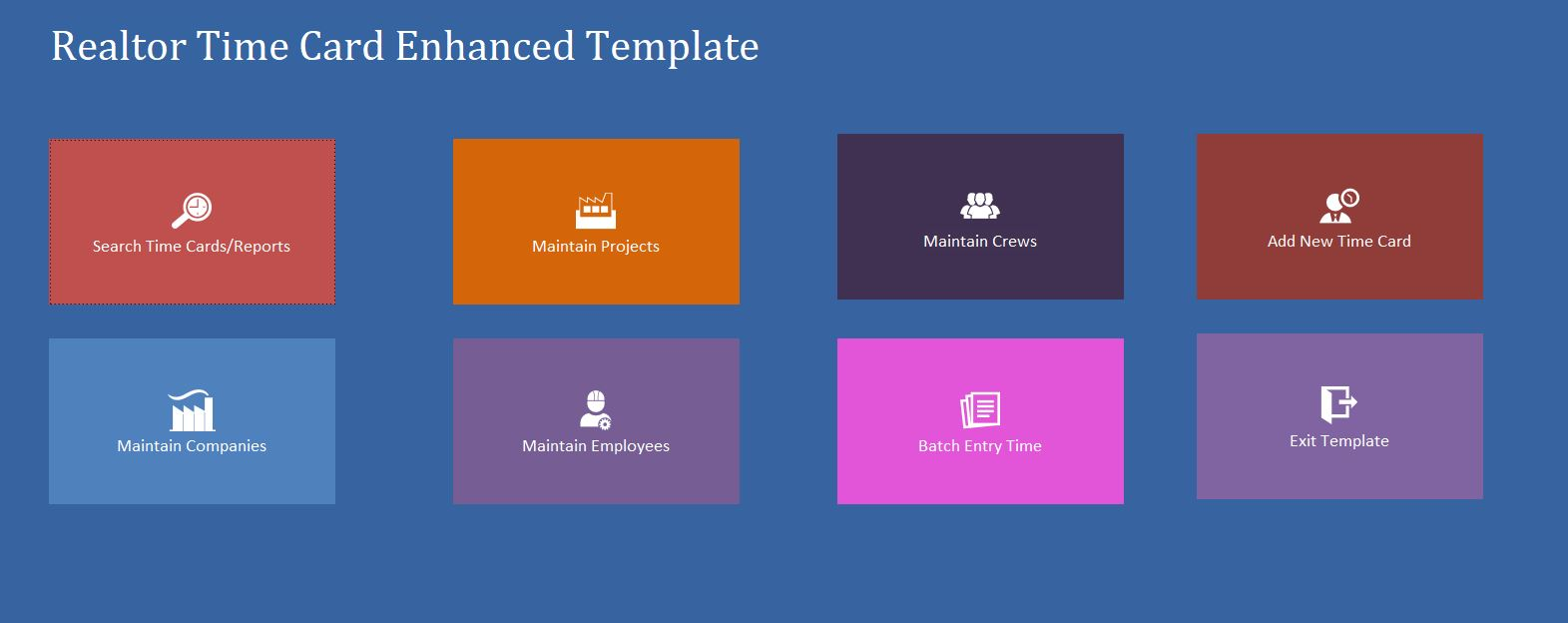 Enhanced Realtor Time Card Template | Time Card Database