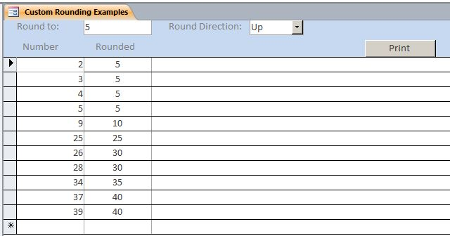 Custom Rounding Template | Custom Rounding Database