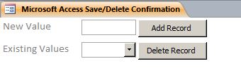 Save/Delete Confirmation Template | Save/Delete Confirmation Database