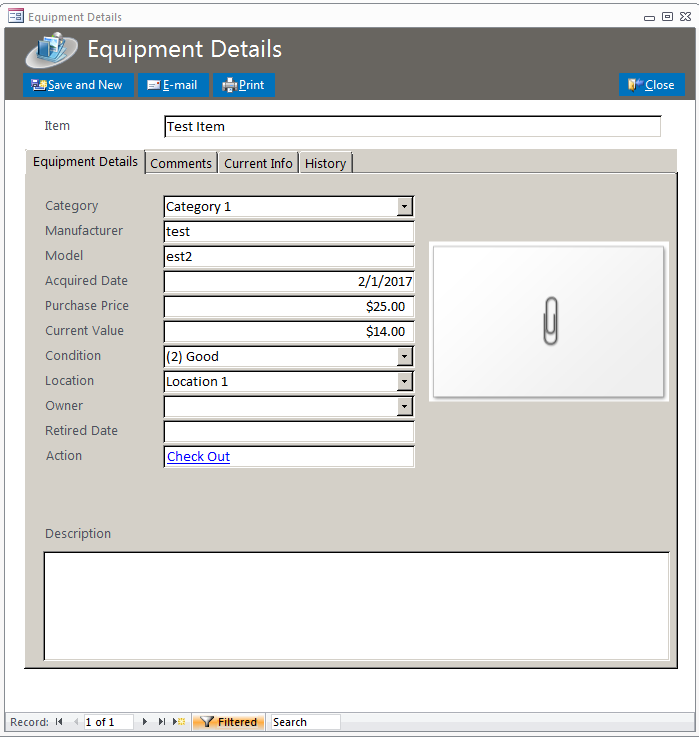 Softball Equipment Tracking Database Template | Equipment Database