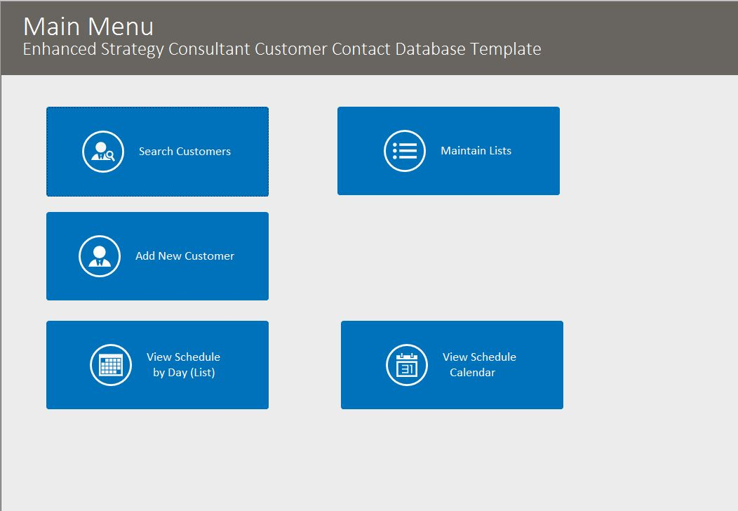 Strategy Consultant Enhanced Contact Template | Contact Database