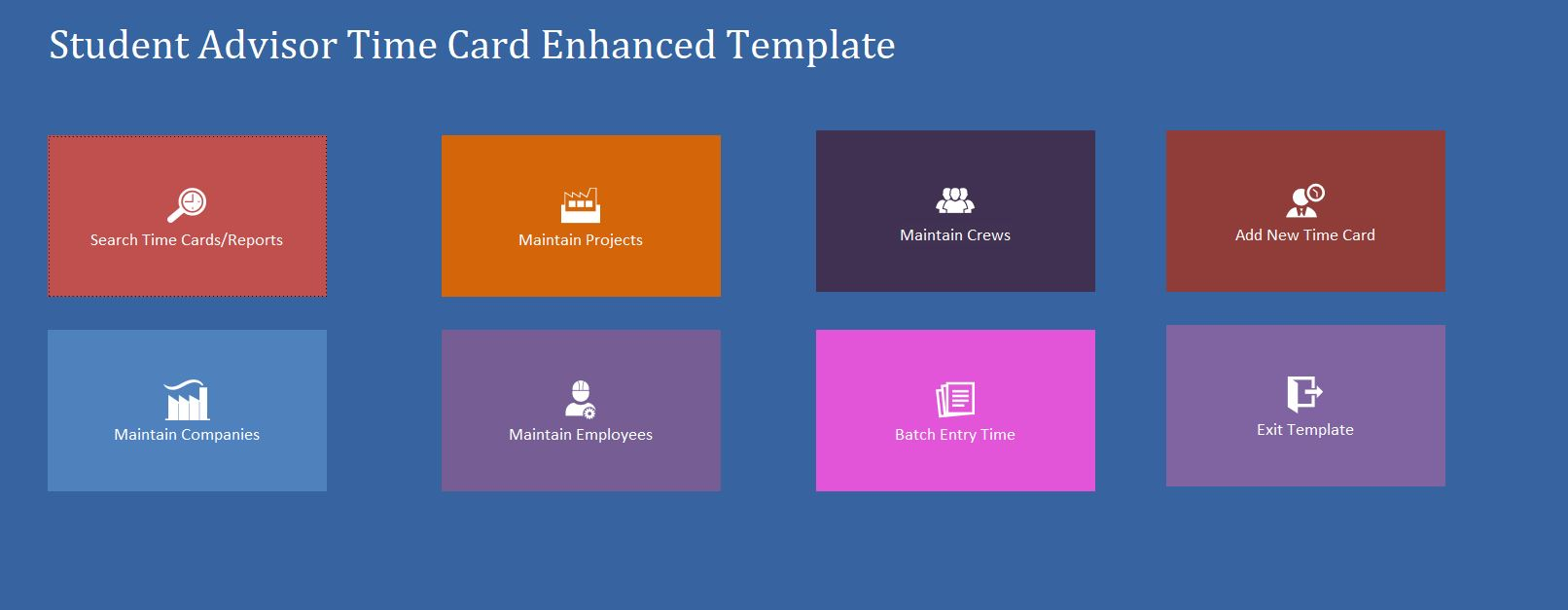 Enhanced Student Advisor Time Card Template | Time Card Database