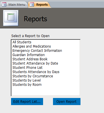 Students Template | Students Database