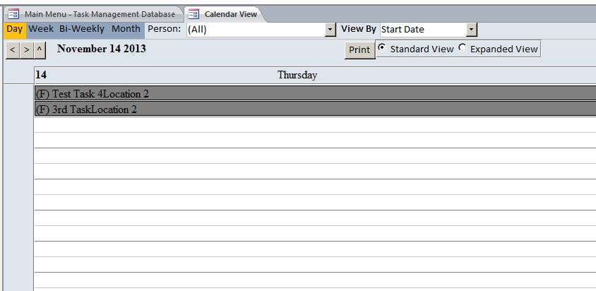 Enhanced Microsoft Access Task Management Database Template