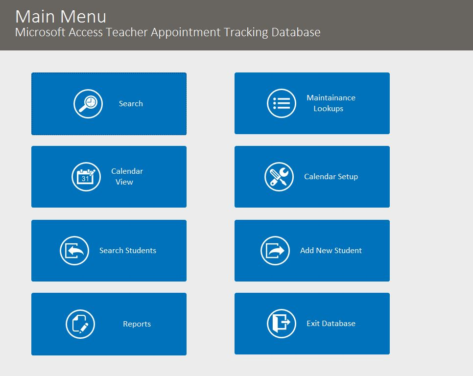 Teacher Appointment Tracking Template Outlook Style | Appointment Database