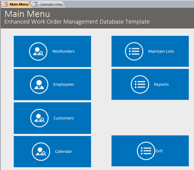 microsoft access enhanced work order management database template