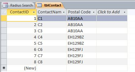 Zip code to state database